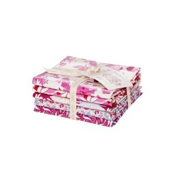 Tilda Cottage Fat Quarter Bundle Plum & Red (Set of 5)