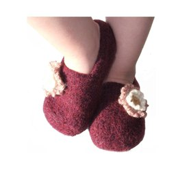 Felted Childrens Slip-ons