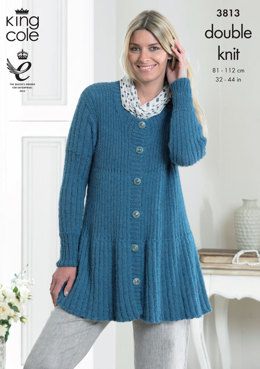 Cardigans In King Cole DK - 3813