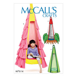 McCall's Kids' Hanging Seat with Contrast Removable Pillow and Purchased Webbing, Contrast Variations M7614 - Sewing Pattern