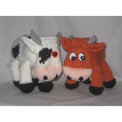 Toy Cow Knitting Pattern By Rian Anderson Knitting Patterns