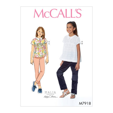 McCall's Girl's Top and Pants M7918 - Sewing Pattern