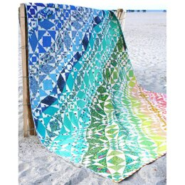 Tula Pink Rainbow Waves Quilt - Downloadable PDF