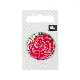 Rico Button With Pink Rose