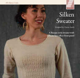 Silken Sweater in UK Alpaca Super Fine 4 Ply - Downloadable PDF