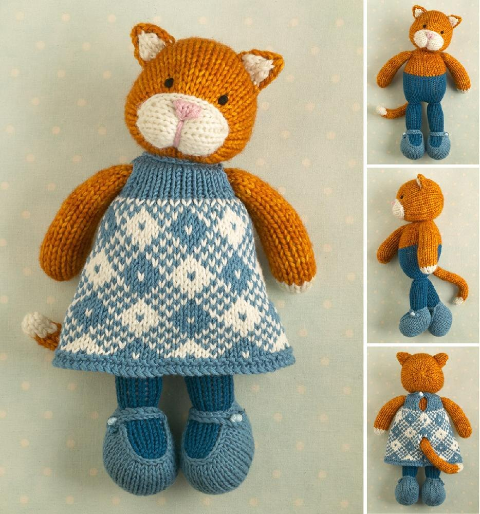 Girl cat Knitting pattern by Julie Williams