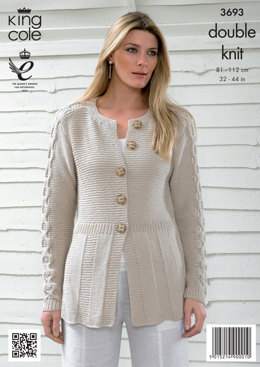 Womens' Cardigan and Top in King Cole Bamboo Cotton DK - 3693