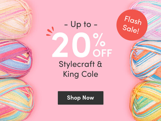 Flash sale! Up to 20 percent off Stylecraft & King Cole