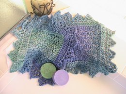Shetland Bead washcloth An Intro to Lace pattern