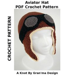 Aviator Hat PDF Crochet Pattern