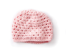 Baby's First Cluster Crochet Hat in Caron Simply Soft - Downloadable PDF