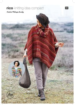 Poncho, Cardigan and Snood in Rico Creative Melange Chunky - 639