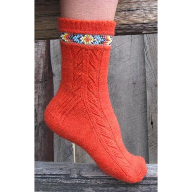 Indian Feather Socks (side design)