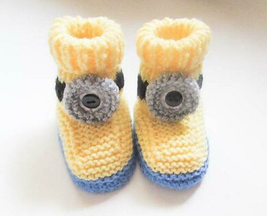 Funny Character Baby Booties