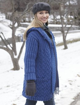 Car Coat with Hood in Patons Classic Wool Roving
