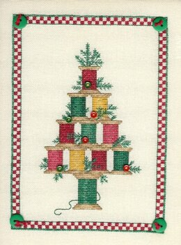 Sue Hillis Designs Christmas Spool Tree - L184 - Leaflet