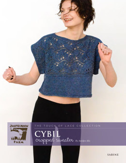 Cybil Cropped Sweater in Juniper Moon Sabine - Downloadable PDF