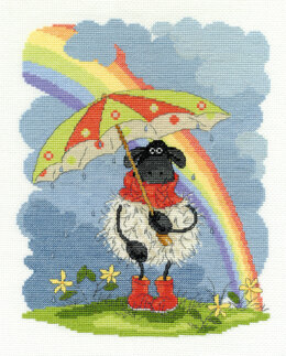 DMC April Showers 14 Count Cross Stitch Kit