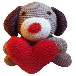 Amigurumi Jeff the Valentine Dog