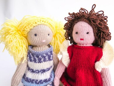Rose And Bianca Knit Dolls