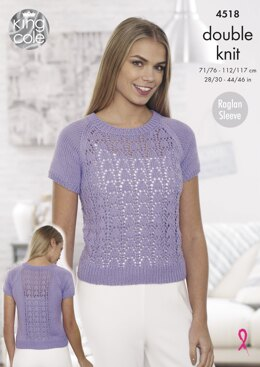 Sweaters in King Cole Cottonsoft DK - 4518 - Downloadable PDF