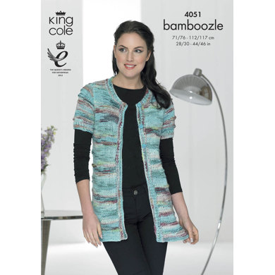 Cardigans in King Cole Bamboozle - 4051