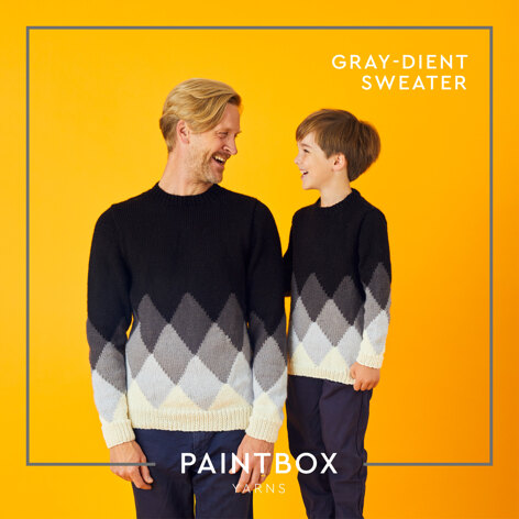 Gray-dient Sweater - Free Sweater Knitting Pattern For Boys and Men in Paintbox Yarns Wool Mix Aran by Paintbox Yarns
