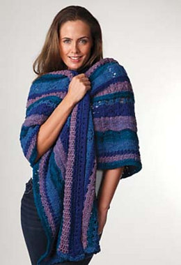 Brunswick Shawl in Manos del Uruguay Clasica Wool Space-Dyed