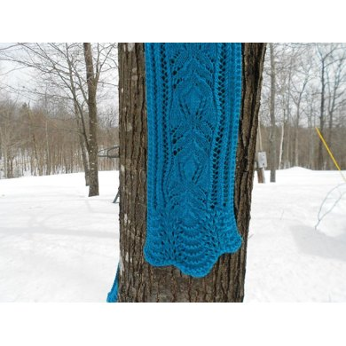 Blue Frost Lace Scarf