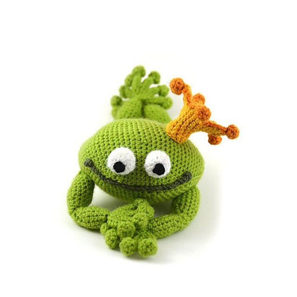 Prince Perry the Frog Amigurumi Crochet PDF pattern Frog | Etsy | 1000x1000