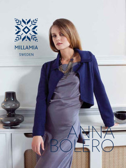 Anna Bolero Jacket in MillaMia Naturally Soft Merino - Downloadable PDF