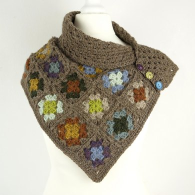 Granny Square Scarf Crochet Pattern By Little Doolally