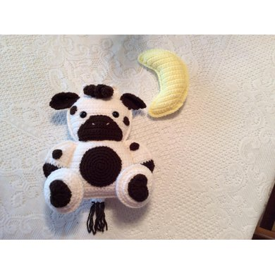 Baby Cow and Moon Crochet Pattern Softie