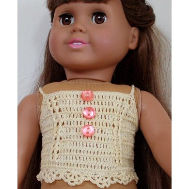 """Vintage Cami pattern for American girl and other 18"""" dolls"""