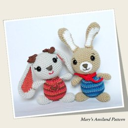 Amigurumi Girl and Boy Bunnies The Amis