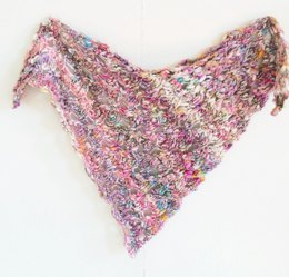 Swirly Shawl in Knit Collage Daisy Chain