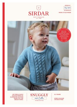 Sweater and Tank in Sirdar Snuggly 100% Cotton - 5270 - Downloadable PDF