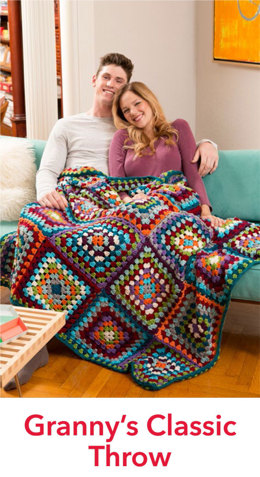 Granny's Classic Throw in Red Heart Soft - LW4901EN