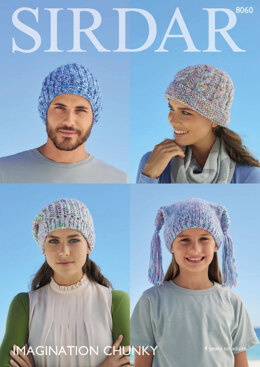 Hats in Sirdar Imagination Chunky - 8060 - Downloadable PDF