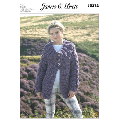 Jacket in James C. Brett Rustic Mega Chunky - JB272