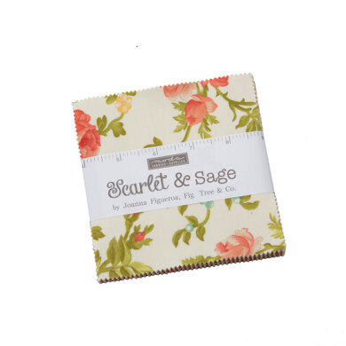Moda Fabrics Scarlet and Sage 5in Charm Pack