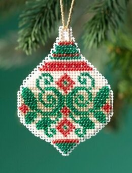 Mill Hill Beaded Holiday - Emerald Flourish Beaded Ornament