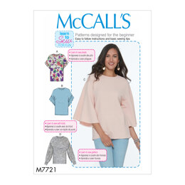 McCall's Misses' Tops M7721 - Sewing Pattern
