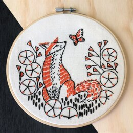 Hook Line & Tinker Fox in Phlox Embroidery Kit
