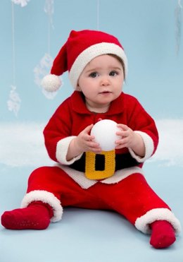Santa Baby Suit in Red Heart Anne Geddes Baby - LW3670