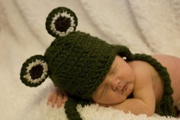 Frog Baby Hat Pattern Quick and Easy