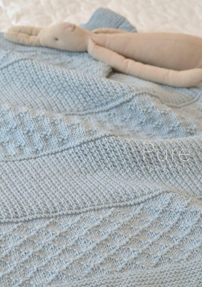 Simple Textured Blanket Jasper Knitting Pattern By Pure