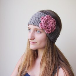 Flower applique headband