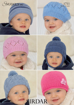 Hats in Sirdar Snuggly DK - 1711 - Downloadable PDF