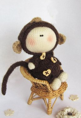 Pebble doll  Monkey